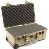 Fotokoffer Peli 1510 Sand mit Schaumstoff