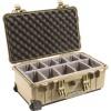 Fotokoffer Peli 1510 Sand mit Unterteiler