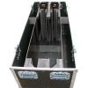 Flightcase mit verstellbaren Aufnahmen für Fernseher