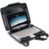 Laptopkoffer Peli i1075 mit iPad-Einsatz aufgestellt