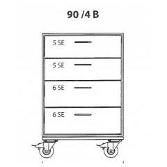 Flightcases Schubladencase Skizze