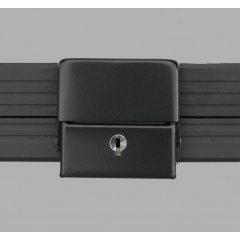 Alukoffer Perfect Schnappschloss schwarz mit Schlüssel
