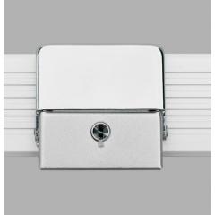 Alukoffer Perfect Schnappschloss silber matt mit Schlüssel