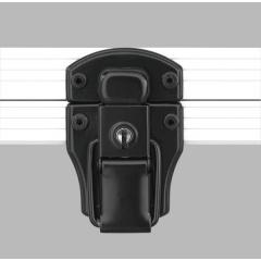Alukoffer Professional Automatikschloss schwarz mit Schlüssel