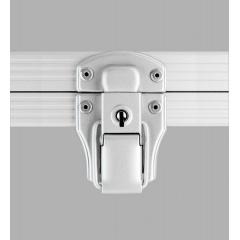 Alukoffer Professional Automatikschloss silber matt mit Schlüssel