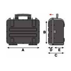 Laptopkoffer Peli Cases Skizze