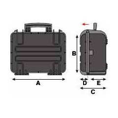 Laptopkoffer Peli Cases Skizze