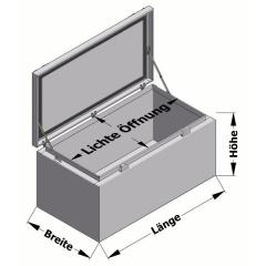 Pickupbox mit Deckelhalter Transportboxen.at Skizze