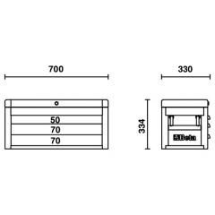 Werkzeugkasten Beta C22S Skizze 1
