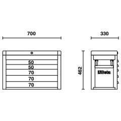 Werkzeugkasten Beta C23S Skizze 1
