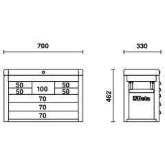 Werkzeugkasten Beta C23SC Skizze 1