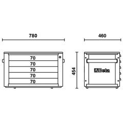 Werkzeugkasten Beta C23ST Skizze 1