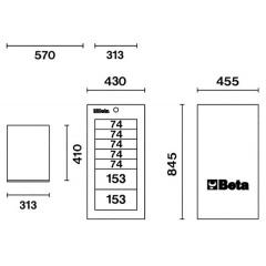 Werkzeugkasten Beta C38L Skizze