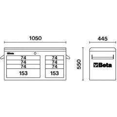 Werkzeugkasten Beta C38T Skizze 1