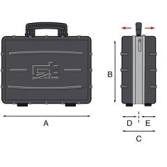 Werkzeugkoffer GT-Line Atomik Twin Skizze