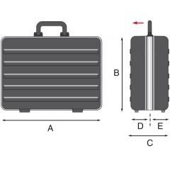 Werkzeugkoffer GT-Line Skizze