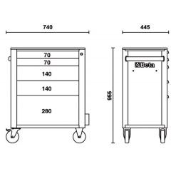 Werkzeugwagen Beta C24S/5 Skizze 1