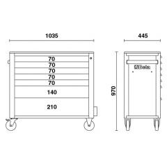 Werkzeugwagen Beta C24SA-XL/7 Skizze